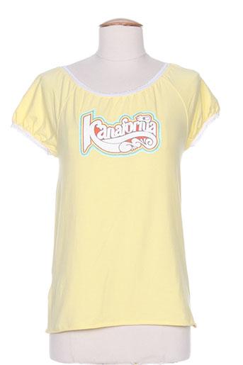 kana beach t-shirts femme de couleur jaune