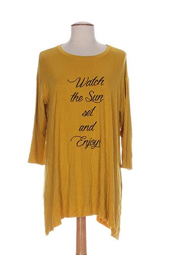 clp tuniques femme de couleur jaune