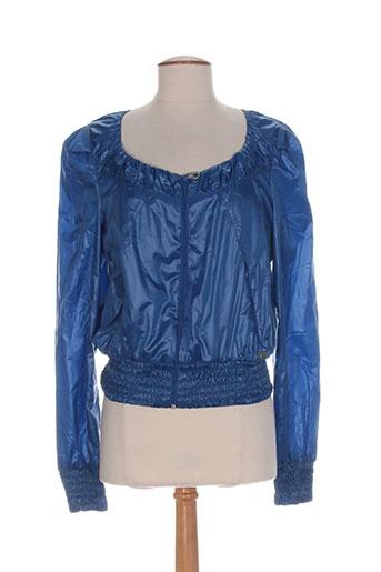 miss sixty vestes femme de couleur bleu