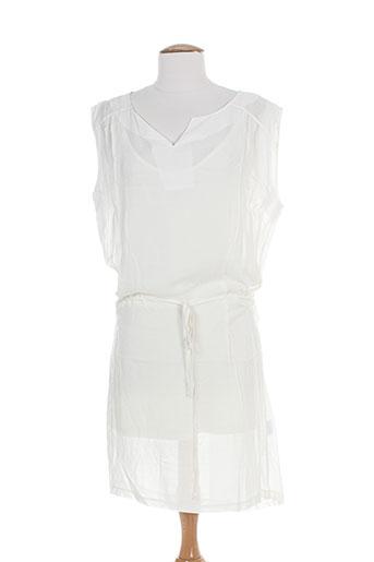manu hancok robes femme de couleur blanc