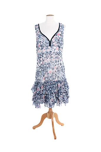 charming robes et mi et longues femme de couleur bleu