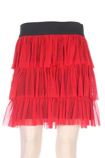 Jupe courte rouge ANATOPIK pour femme
