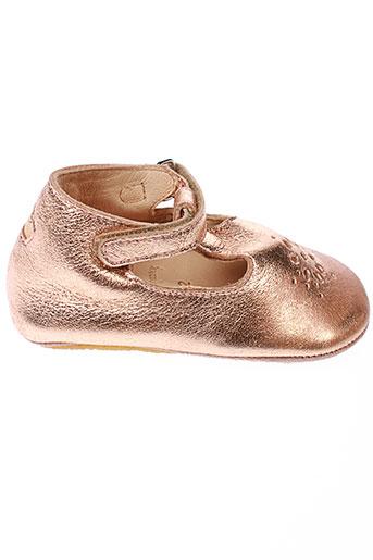 easy et peasy chaussons fille de couleur rose