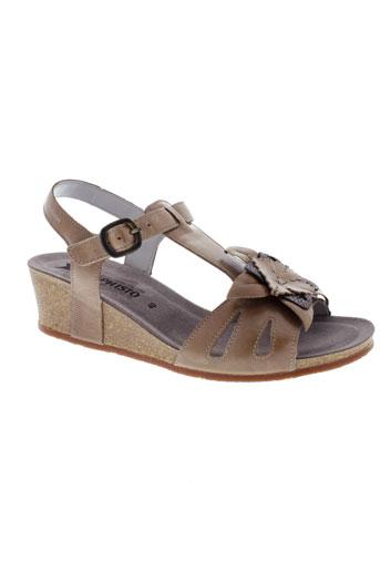 mephisto sandales et nu et pieds femme de couleur marron