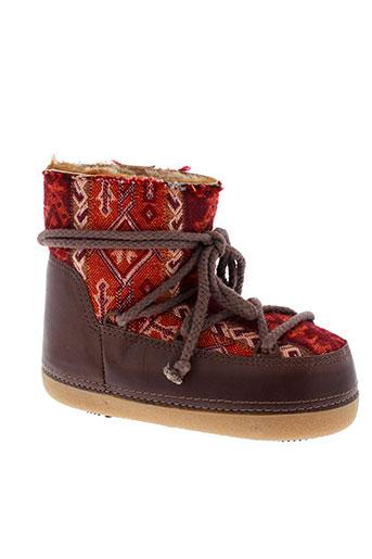 ikkii boots femme de couleur rouge