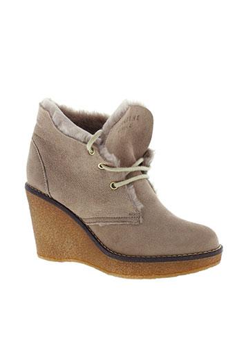 serafini boots femme de couleur beige