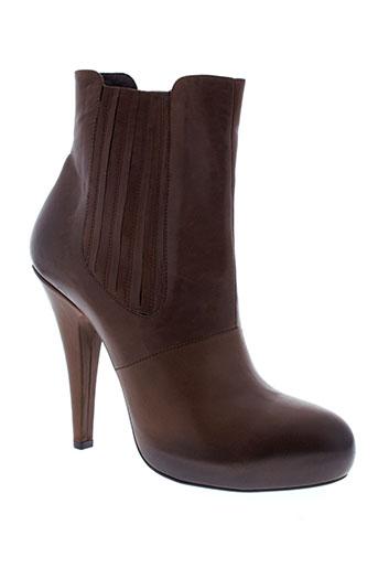 vic bottines femme de couleur marron