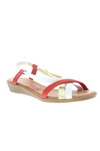 marila sandales et nu et pieds femme de couleur blanc