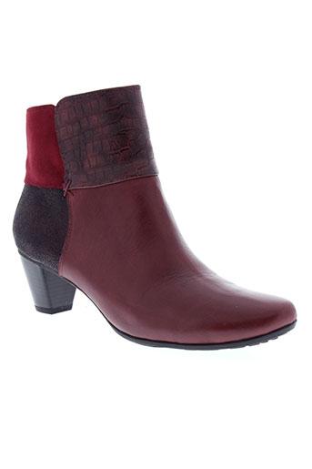 sweet bottines femme de couleur rouge