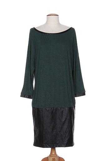 Robe mi-longue vert HYBRIS pour femme