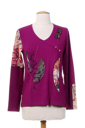 jean gabriel t-shirts femme de couleur violet