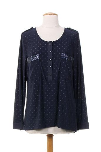 meri et esca blouses femme de couleur bleu
