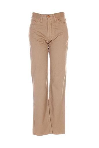 jost pantalons garçon de couleur marron