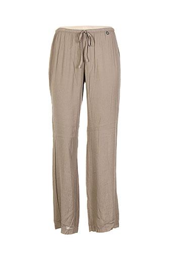 blanc boheme pantalons femme de couleur marron
