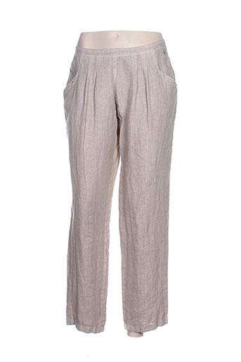 blanc boheme pantalons femme de couleur beige