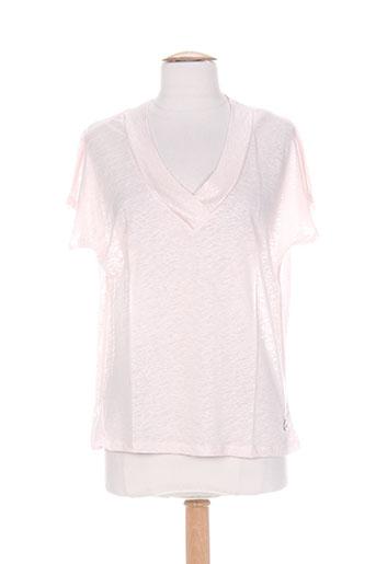blanc boheme chemises femme de couleur rose