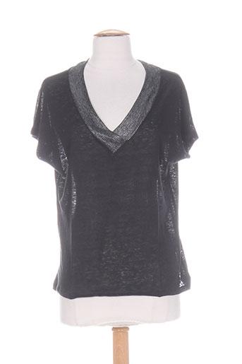 blanc boheme chemises femme de couleur noir