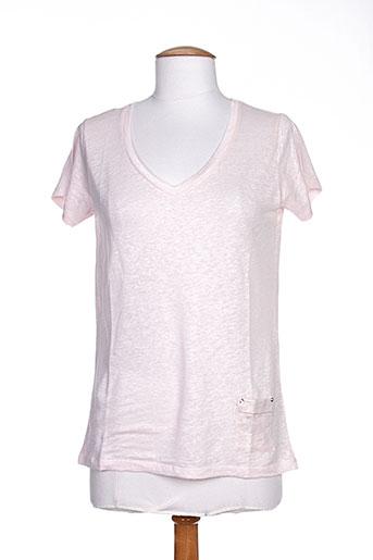 blanc boheme t-shirts femme de couleur rose