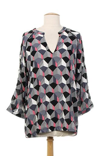 akoz blouses femme de couleur gris