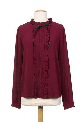 callisto chemises femme de couleur rouge