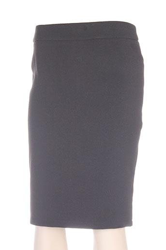 lulumary jupes femme de couleur noir