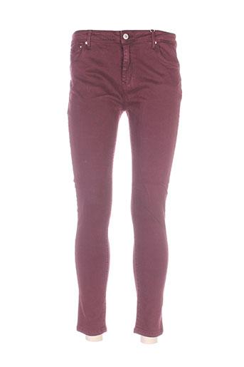 denim avenue pantalons femme de couleur violet