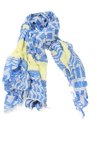 see et u et soon foulards femme de couleur bleu