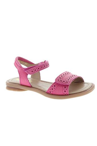 mod8 sandales et nu et pieds fille de couleur rose