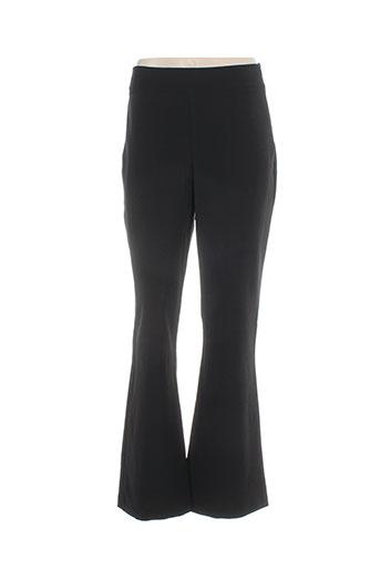 eroke pantalons femme de couleur noir