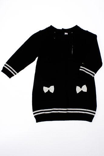 berlingot robes fille de couleur noir