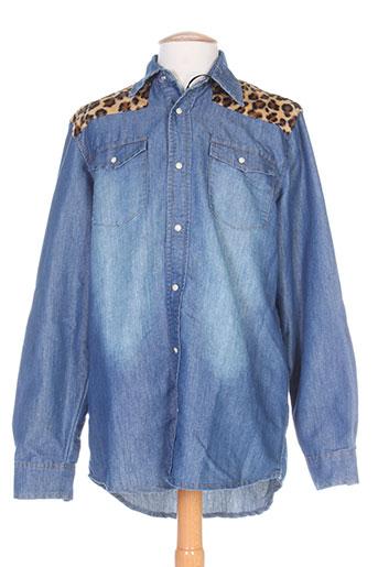 rivaldi chemises homme de couleur bleu