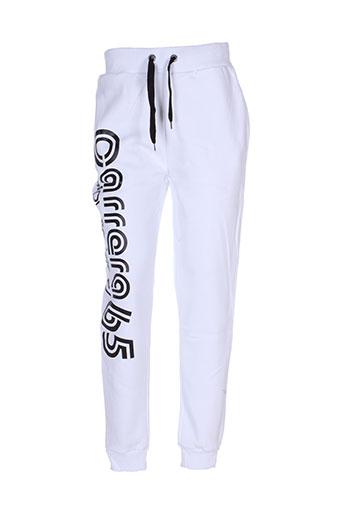 carrera pantalons homme de couleur blanc
