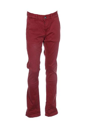 pepe jeans pantalons fille de couleur rouge