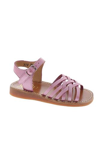 pom et d et api sandales et nu et pieds fille de couleur rose