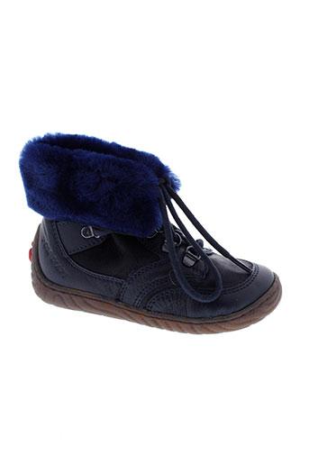 pom et d et api boots garcon de couleur bleu