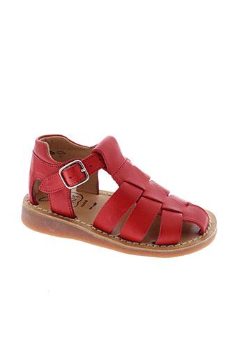 pom d'api chaussures garçon de couleur rouge