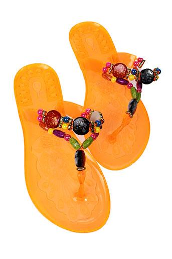les et p et tites et bombes tongs femme de couleur orange