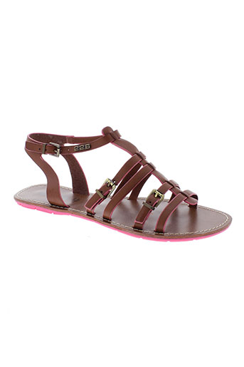 226 et shoes sandales et nu et pieds femme de couleur marron