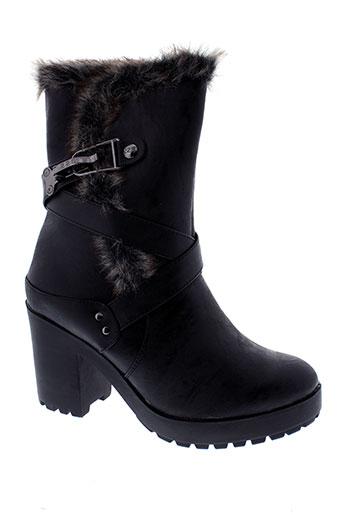 226 et shoes bottines femme de couleur noir