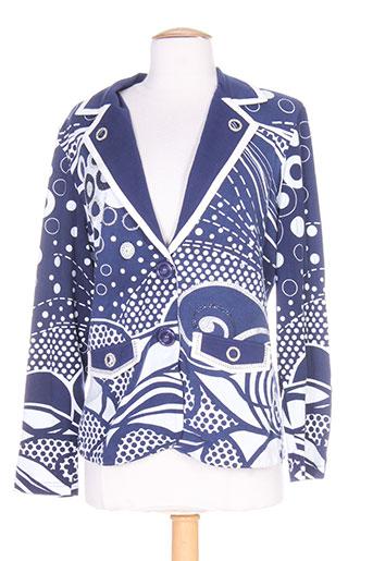 bagutti vestes femme de couleur bleu