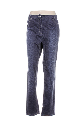 gelco pantalons et decontractes femme de couleur bleu