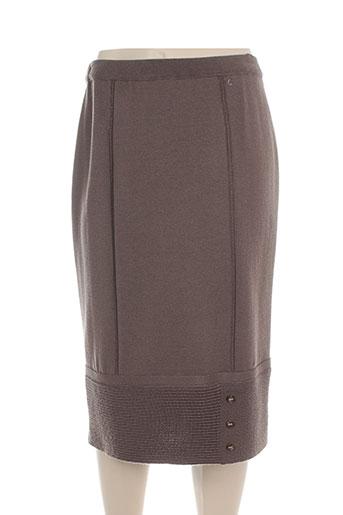 pauporté jupes femme de couleur marron