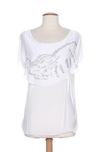 lea greb chemises femme de couleur blanc