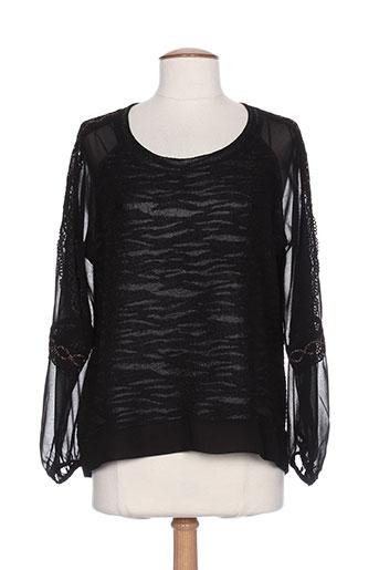 sun light chemises femme de couleur noir