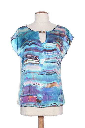 tinta style t et shirts et tops femme de couleur bleu