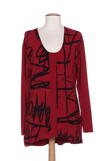 T-shirt manches longues rouge VETONO BE NATURAL pour femme