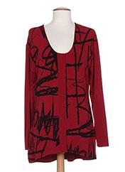 T-shirt manches longues rouge VETONO BE NATURAL pour femme seconde vue
