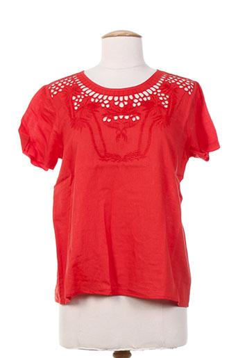 petite mendigote chemises femme de couleur orange