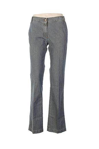 bensimon pantalons femme de couleur bleu