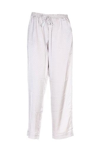 noro pantalons femme de couleur gris